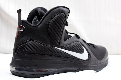 nike lebron 9 pe black white 1 02 PE Spotlight // Nike LeBron 9 Triple Black with White Swoosh