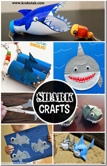 shark crafts for kids - so many cute ideas for an ocean theme for preschool or kindergarten