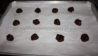 Peanut Butter Brownie Cookies - Gluten Free - before oven