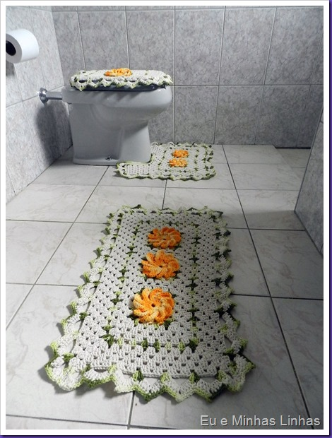 Jogo Banheiro Croche com Flor 1a