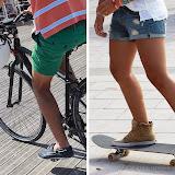 Short...vélo et short...skate