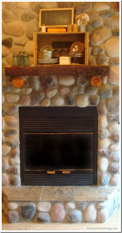 {Northern Cottage} cozy mantel display