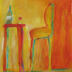 """At the Bistro"", Acrylic/Pastel SOLD"