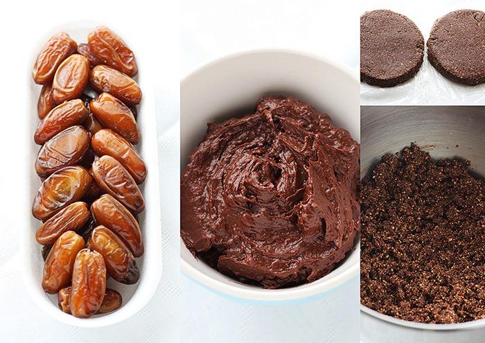 Tort raw vegan cu ciocolata si fructe de padure 5