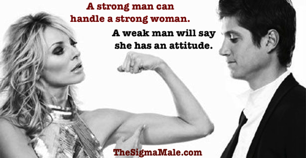 Strong man strong woman