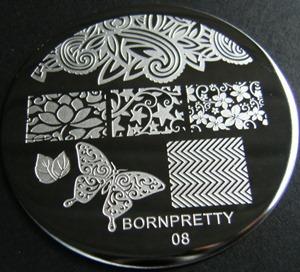 Stamping plate BornPretty 08