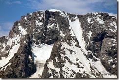 dike on Mt. Moran