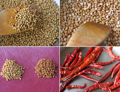 Making Homemade Sambar Powder