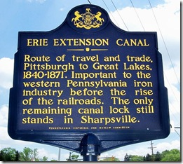 Erie Extension Canal marker near intersection of Route 18 & 518