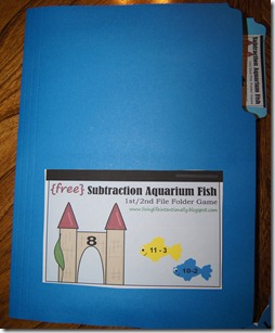 FREE Subtraction Fish Math Game