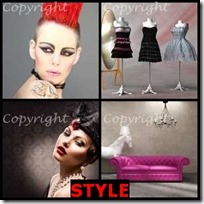 STYLE- 4 Pics 1 Word Answers 3 Letters