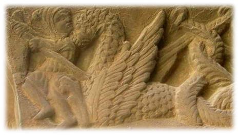Lucha entre Marduk y Tiamat