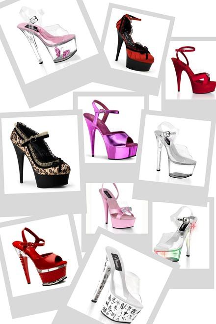 sandálias para pole dance e artes sensuais