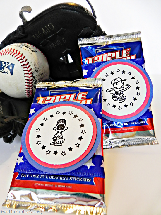 stamped baseball party favors