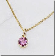 Pink Tourmaline and Gold Necklace