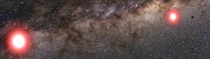 exoplaneta em órbita de uma estrela pertencente a um sistema binário