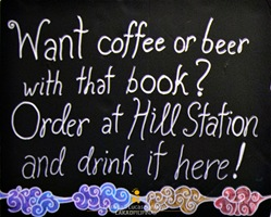 Beer or Coffee at Mt. Cloud Bookshop