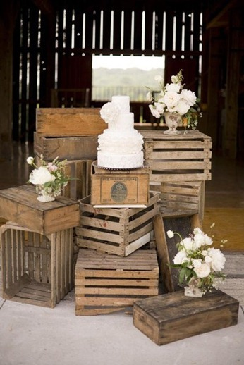 Crates and Cake Display