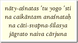 Bhagavad-gita, 6.16