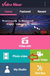 นำภาพถ่ายมาทำเป็นวีดีโอใน android
