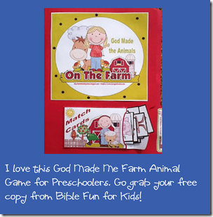 God Made Me on the farm preschool game