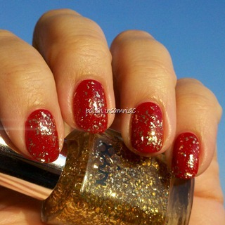 NYX Gilded Glitter over Deborah Lippmann My Old Flame