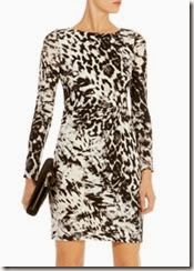 Karen Millen Ruched Animal Print Dress