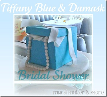 Mural Maker and More Tiffany Blue Box Bridal Shower