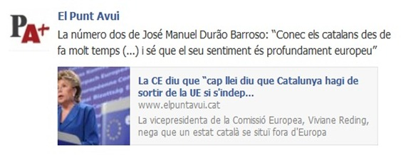 Article sobre Barroso dins ElPuntAvui