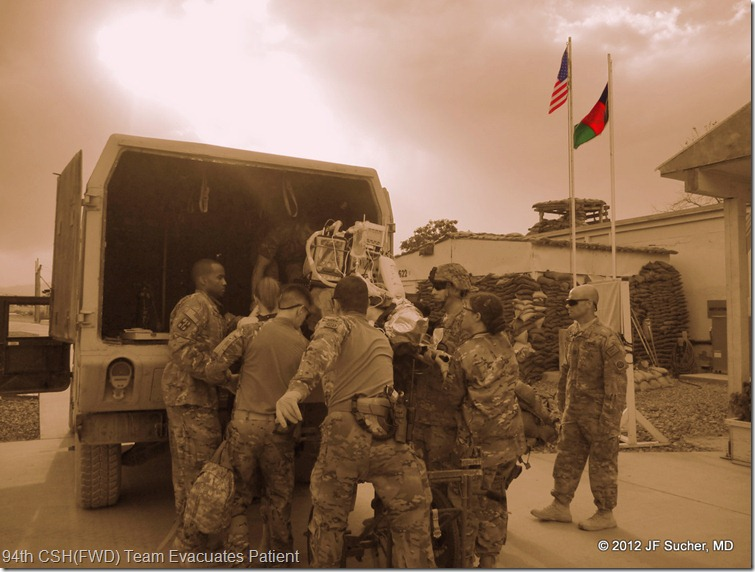 94th CSH(FWD) Team Evacuates Patient