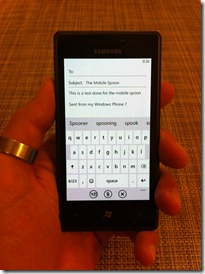 Keyboard WP7