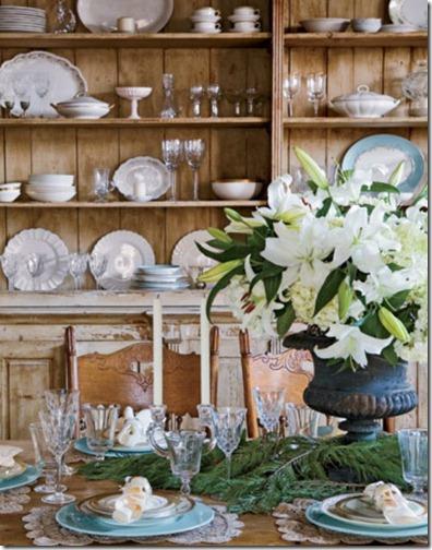 verdigris vis white flowers