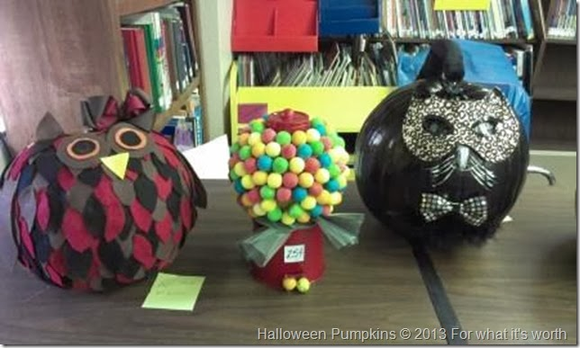 owl, gumball Halloween pumpkins