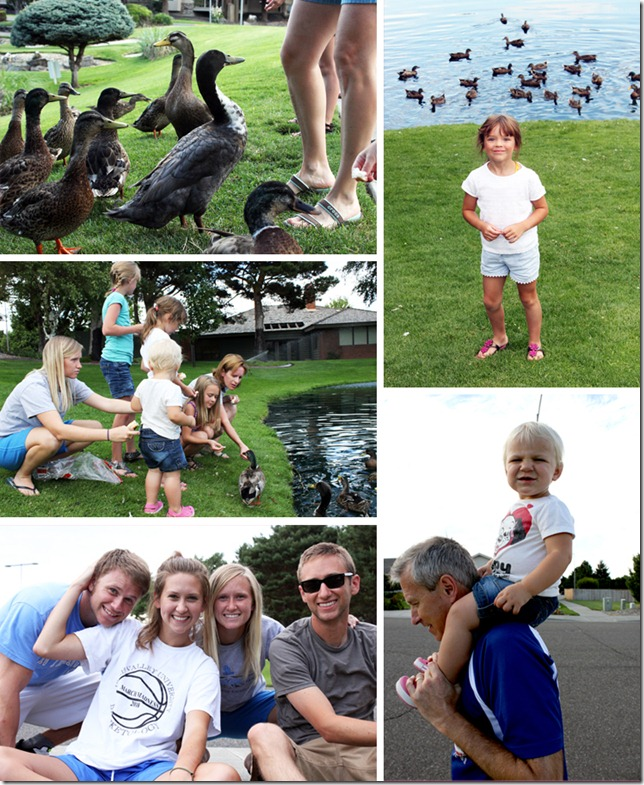 feeding the ducks with cousins