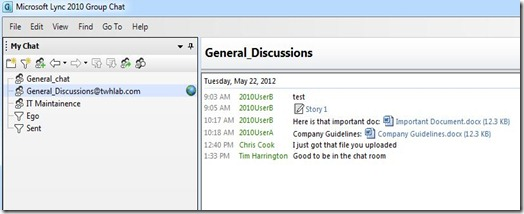 Lync GC Fed - chat room