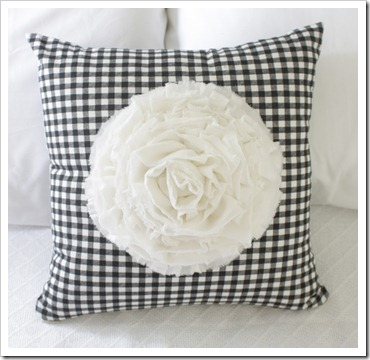 fluffy flower pillow