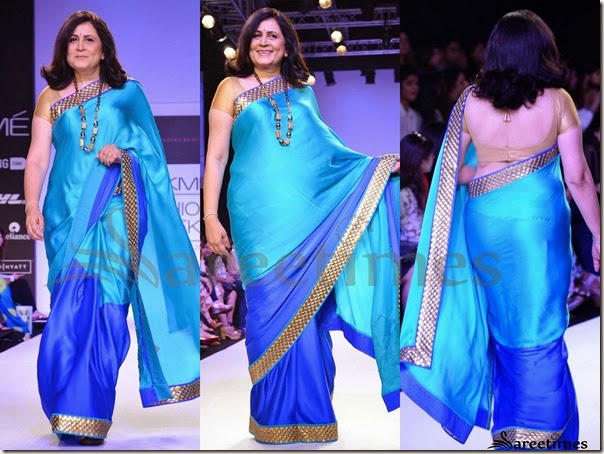 Mandira_Bedi_Blue_Half_and_Half_Saree