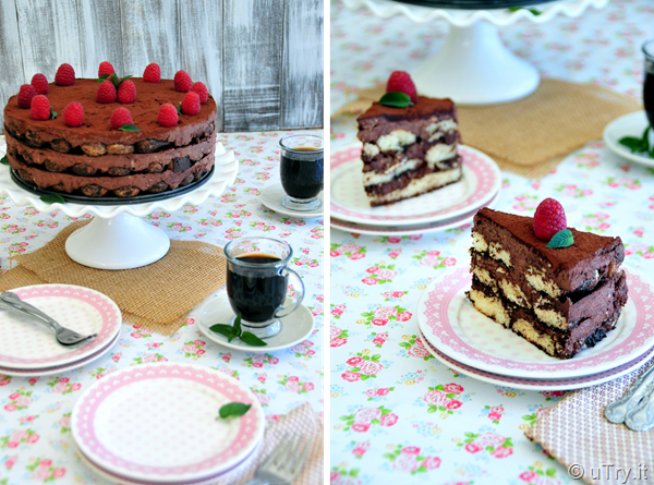 Chocolate Tiramisu Layer Cake (No Bake!)   http://utry.it