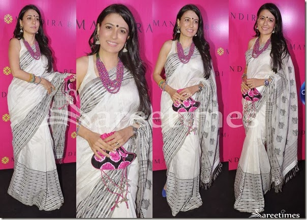Mini_Mathur_White_Sari