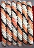 rollover bracelet black stripe white pink