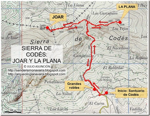 Mapa Sierra de Codés