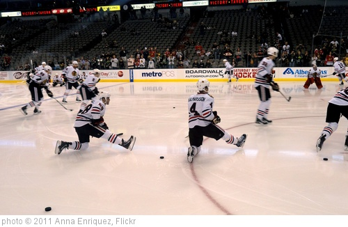 'Blackhawks pregame skate' photo (c) 2011, Anna Enriquez - license: http://creativecommons.org/licenses/by/2.0/