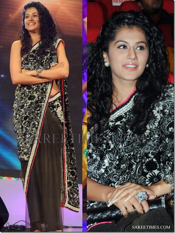Taapsi_Black_Saree