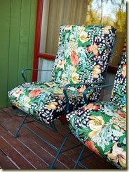 Slipcovers for the deck chairs