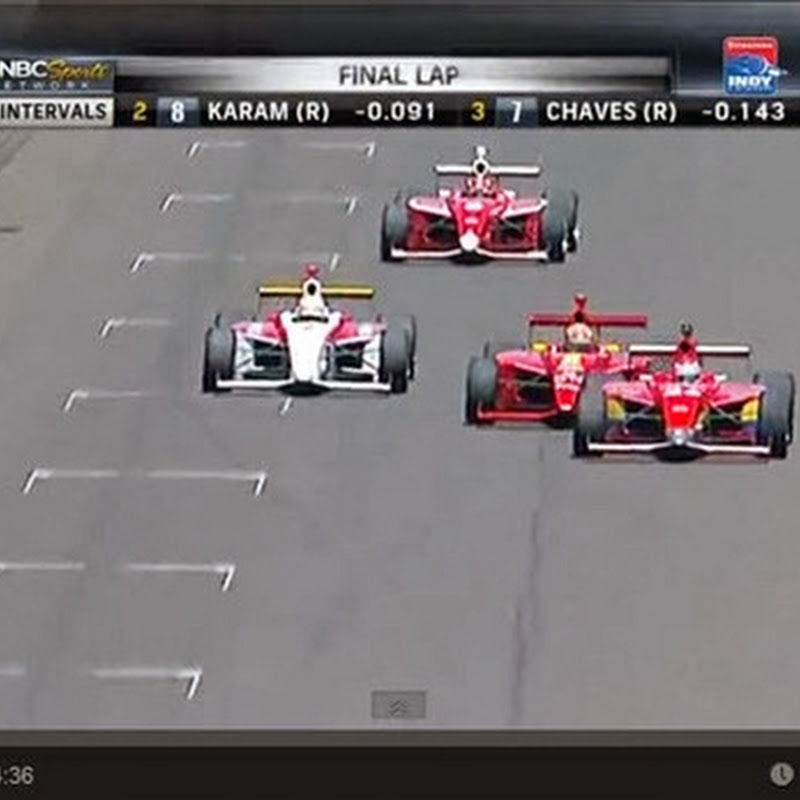 2013 Firestone Indy Lights Close Finish!
