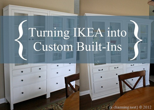 We Have Successfully Turned Two IKEA Hemnes Glass Door With Drawers Cabinets  Into Custom Cabinets. In Our PART I Post I Explained How We Removed The  Base ...