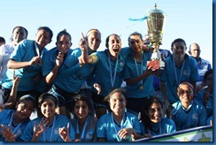 festejo del equipo unifut campeona apertura 2012