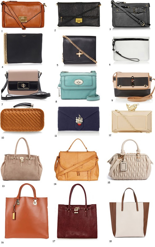 accessories report - bags to suit all styles and budgets - bags under £100 - high street accessories best buys - via fashioned by love british fashion blog