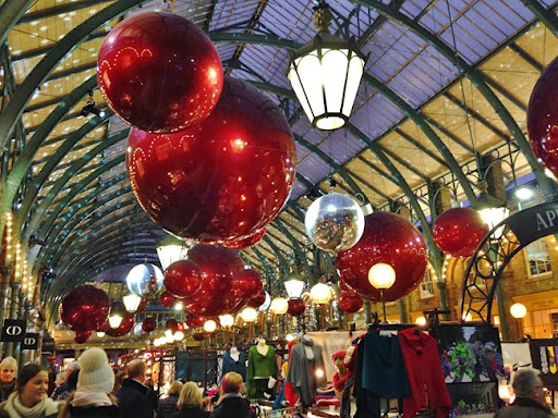 Covent Garden Market Is All Decked Out In Gigantic Christmas Baubles, With  A Few Other Holiday Staples In Place As Wellu2026