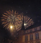Fireworks during the Fte des Vendanges